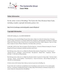 studyguide cantervilleghost oscar wilde gothic fiction