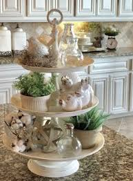Kitchen Island Decor Ideas Our Kitchen Tea Station And Tiered Trays For Kitchen Storage
