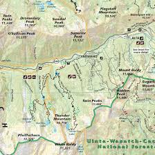 Topographic Map Of Utah by Salt Lake City Park City And The Wasatch Adventure Maps