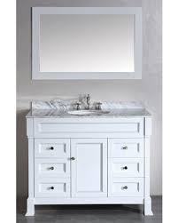 43 Vanity Top With Sink 43 Inch Contemporary White Bathroom Vanity Carrera Marble Top