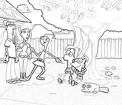 phineas and ferb coloring pages elijah pinterest storyboard