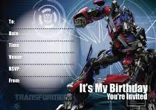birthday child transformers greeting invitations ebay