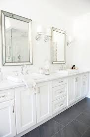 Beveled Mirror Bathroom by Framed Bathroom Mirrors Restoration Hardware Frame Decorations