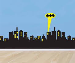 gotham cityscape wall decal wall murals you ll love superhero cityscape wall decal murals you ll love
