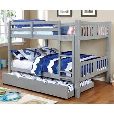 Furniture Of America Edith Full Over Full Bunk Bed In Gray IDF - Furniture of america bunk beds