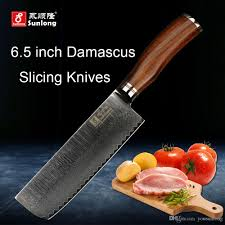 Damascus Kitchen Knives For Sale by Sunlong Vg10 Steel Core Damascus Steel Chinese Kitchen Knife