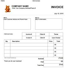 Lawn Maintenance Invoice Template by Daycare Invoice Template 10 Restaurant Invoice Template Word