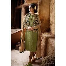buy bridal wear nakkashi bottle green pista color designer