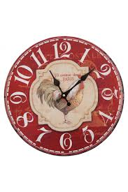 Wall Clock Design Vintage French Paris Rooster Chicken Wall Clocks Decor Kitchen Cafe