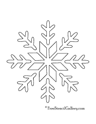 printable snowflakes stencils snowflake stencil 09 projects to