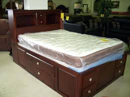 captain bed frame queenqueen captains bed with bookcase headboard