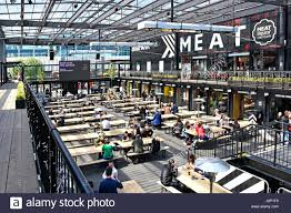 space seating croydon uk boxpark covered open space seating area for people to eat