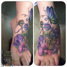 lnztattoos lock and key lock and key color butterfly