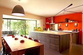 peinture orange cuisine deco cuisine peinture orange