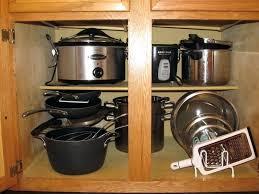 Organizing Pots And Pans In Kitchen Cabinets Cookware Storage Ideas Kitchen Cabinet Shelf Organiser Pot