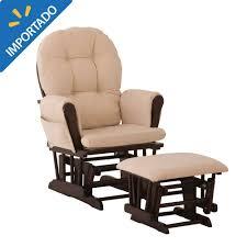 Walmart Rocking Chairs Nursery Mecedora Storkcraft Espresso Con Cojines Beige 4 490 00 En