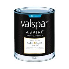 valspar aspire paint u0026 primer exterior flat quart exterior