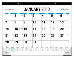 cool desk pad calendars blue sky 2018 monthly desk pad calendar large print 22 x 17