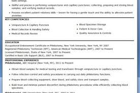 Sample Resume For Housewife Returning To Work by Phlebotomist Resume General Work Resume Phlebotomy Format