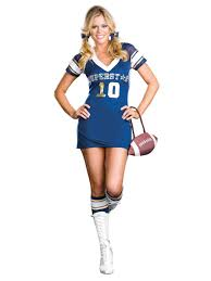 Womens Cheerleader Halloween Costume Womens Football Player Costume Sports Costume Football Jersey