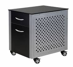 Black Desk With File Drawer Black Car Office Desk File Cabinet