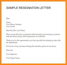 sample format of resignation letter with notice period cover