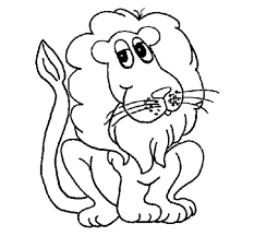 printable coloring lion coloring pages animals lion