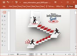 template animated stairway powerpoint