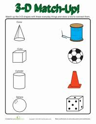 3d shapes in real life worksheet education com