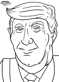 donald trump coloring page u2013 coloring pages u2013 original coloring pages