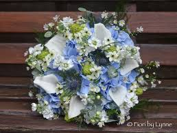 blue wedding bouquets wedding flowers jennie s rustic blue silver and white