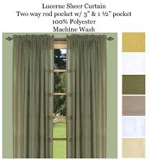Green Sheer Curtains Lucerne Curtain Panels In Ivory Linen Butterscotch Custard And