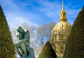Large Eiffel Tower Statue Paris Sightseeing The Thinker Statue By Rodin