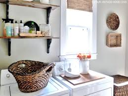 our vintage home love laundry room ideas and a vintage ironing board