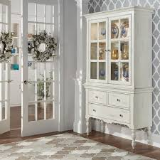 mckay country antique white display buffet storage china cabinet