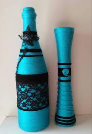 yarn bottle set spring home decor yarn art flower vase desk