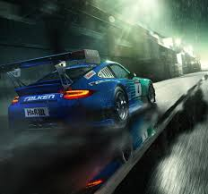porsche gt3 iphone wallpaper porsche 911 gt3 blue supercar back view rain drops full hd
