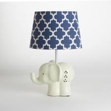 Porcelain Elephant Elephant Lamp Base U0026 Shade U2013 Living Textiles Co