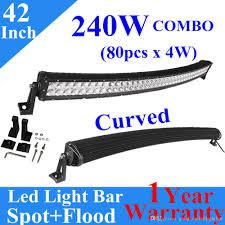 curved marine led light bar 42 240w curved spot flood led work light bar combo off road driving