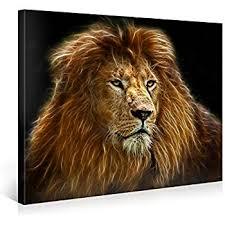 amazon wall art black white lion open mouth head