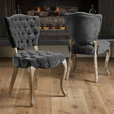 christopher knight home bates tufted charcoal fabric dining chairs christopher knight home bates tufted charcoal fabric dining chairs set of 2 overstock