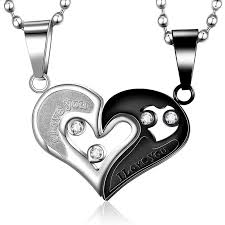 couple love heart necklace images I love you heart titanium steel couple necklaces tangeel jpeg