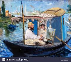 jeep painting canvas monet painting on his studio boat by edouard manet 1832 1883