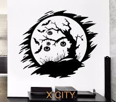 compare prices on wall stencils stickers online shopping buy low darkness night bats pumpkin halloween tree wall art decal sticker removable vinyl transfer stencil mural home
