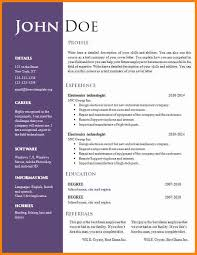 Free Unique Resume Templates Word Free Cool Resume Templates Resume Template And Professional Resume