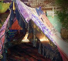 boho gypsy tent teepee hippiewild made to order glamping silk