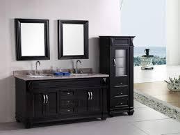 painting vanity black bathroom diy update furniture