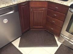 corner cabinet kitchen rug rug or mat for the corner sink in kitchen