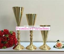 Trumpet Vase Wedding Centerpieces by Polished Metallic Trumpet Vases Wedding Centerpieces Vases French
