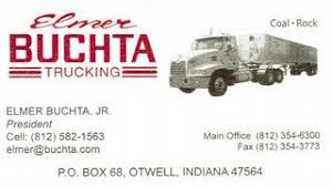 elmer s business card 3 28 from buchta trucking llc in otwell in